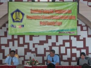 Kepala KPKNL membuka acara sosialisasi